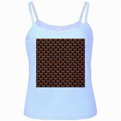 Scales3 Black Marble & Rusted Metal Baby Blue Spaghetti Tank
