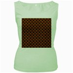 SCALES3 BLACK MARBLE & RUSTED METAL Women s Green Tank Top