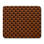 SCALES3 BLACK MARBLE & RUSTED METAL Large Mousepads