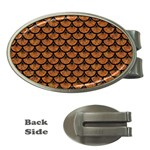 SCALES3 BLACK MARBLE & RUSTED METAL Money Clips (Oval)