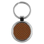 SCALES3 BLACK MARBLE & RUSTED METAL Key Chains (Round)  Front