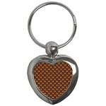 SCALES3 BLACK MARBLE & RUSTED METAL Key Chains (Heart)