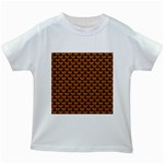SCALES3 BLACK MARBLE & RUSTED METAL Kids White T-Shirts