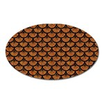 SCALES3 BLACK MARBLE & RUSTED METAL Oval Magnet