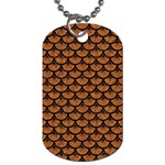 SCALES3 BLACK MARBLE & RUSTED METAL Dog Tag (Two Sides) Front