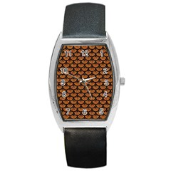 Scales3 Black Marble & Rusted Metal Barrel Style Metal Watch