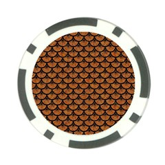 Scales3 Black Marble & Rusted Metal Poker Chip Card Guard (10 Pack)