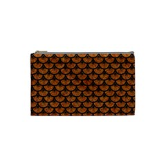 Scales3 Black Marble & Rusted Metal Cosmetic Bag (small)  by trendistuff
