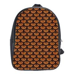 SCALES3 BLACK MARBLE & RUSTED METAL School Bag (Large)