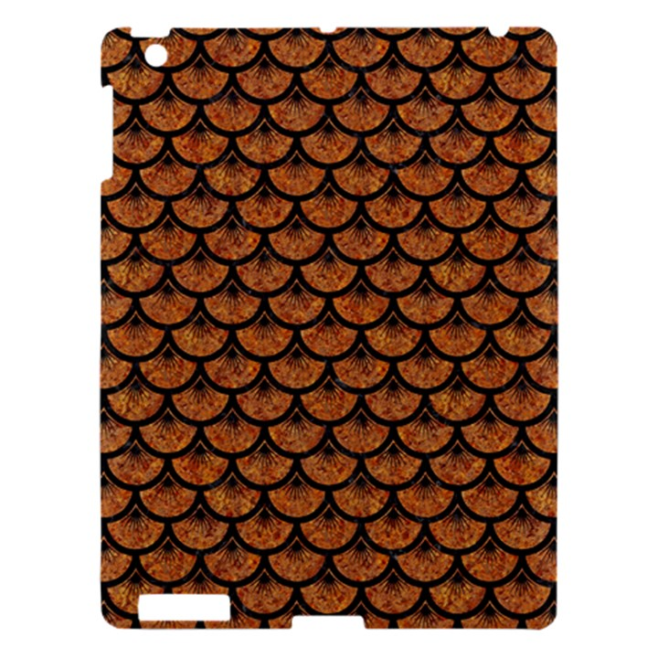 SCALES3 BLACK MARBLE & RUSTED METAL Apple iPad 3/4 Hardshell Case