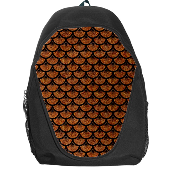 SCALES3 BLACK MARBLE & RUSTED METAL Backpack Bag