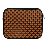 SCALES3 BLACK MARBLE & RUSTED METAL Apple iPad 2/3/4 Zipper Cases Front