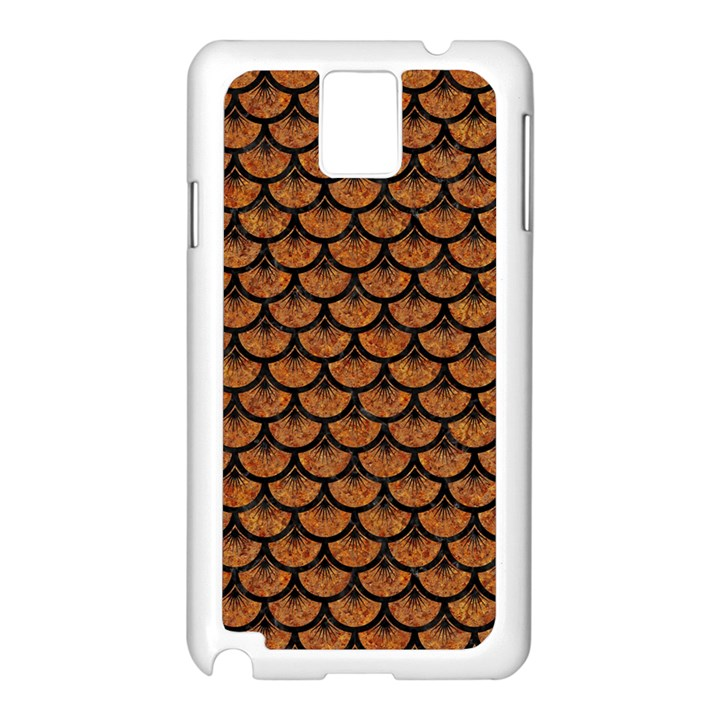 SCALES3 BLACK MARBLE & RUSTED METAL Samsung Galaxy Note 3 N9005 Case (White)