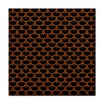 SCALES3 BLACK MARBLE & RUSTED METAL (R) Tile Coasters Front