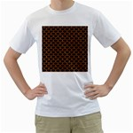SCALES3 BLACK MARBLE & RUSTED METAL (R) Men s T-Shirt (White) (Two Sided) Front