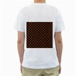 SCALES3 BLACK MARBLE & RUSTED METAL (R) Men s T-Shirt (White) (Two Sided) Back