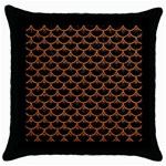 SCALES3 BLACK MARBLE & RUSTED METAL (R) Throw Pillow Case (Black) Front