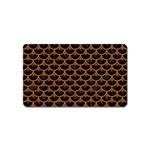 SCALES3 BLACK MARBLE & RUSTED METAL (R) Magnet (Name Card) Front