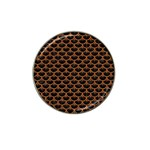 SCALES3 BLACK MARBLE & RUSTED METAL (R) Hat Clip Ball Marker (4 pack) Front
