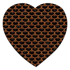 Scales3 Black Marble & Rusted Metal (r) Jigsaw Puzzle (heart) by trendistuff