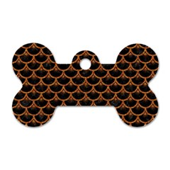 Scales3 Black Marble & Rusted Metal (r) Dog Tag Bone (two Sides) by trendistuff