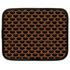 Scales3 Black Marble & Rusted Metal (r) Netbook Case (large) by trendistuff
