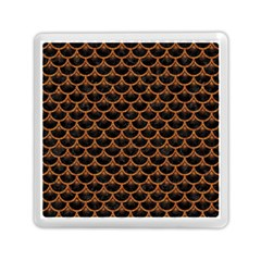 Scales3 Black Marble & Rusted Metal (r) Memory Card Reader (square)