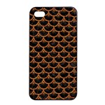 SCALES3 BLACK MARBLE & RUSTED METAL (R) Apple iPhone 4/4s Seamless Case (Black) Front