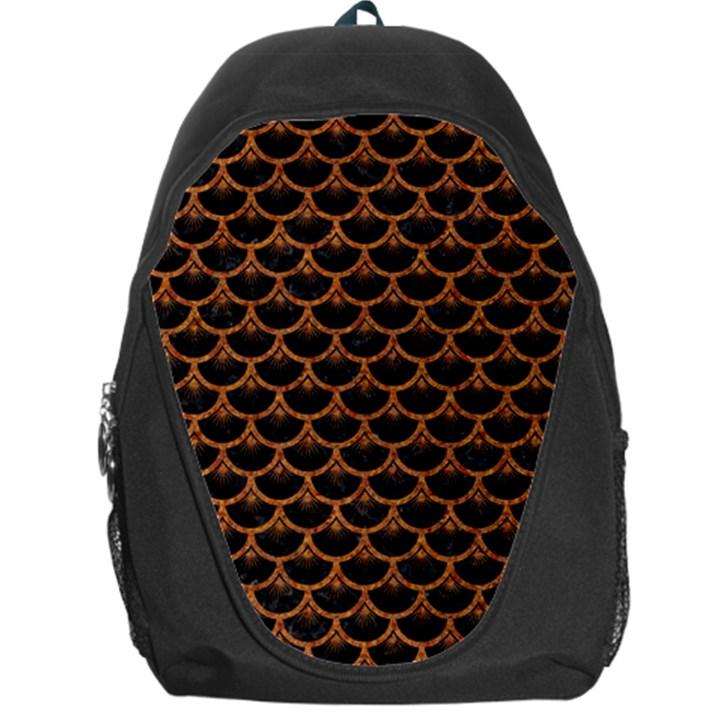 SCALES3 BLACK MARBLE & RUSTED METAL (R) Backpack Bag