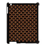SCALES3 BLACK MARBLE & RUSTED METAL (R) Apple iPad 3/4 Case (Black) Front