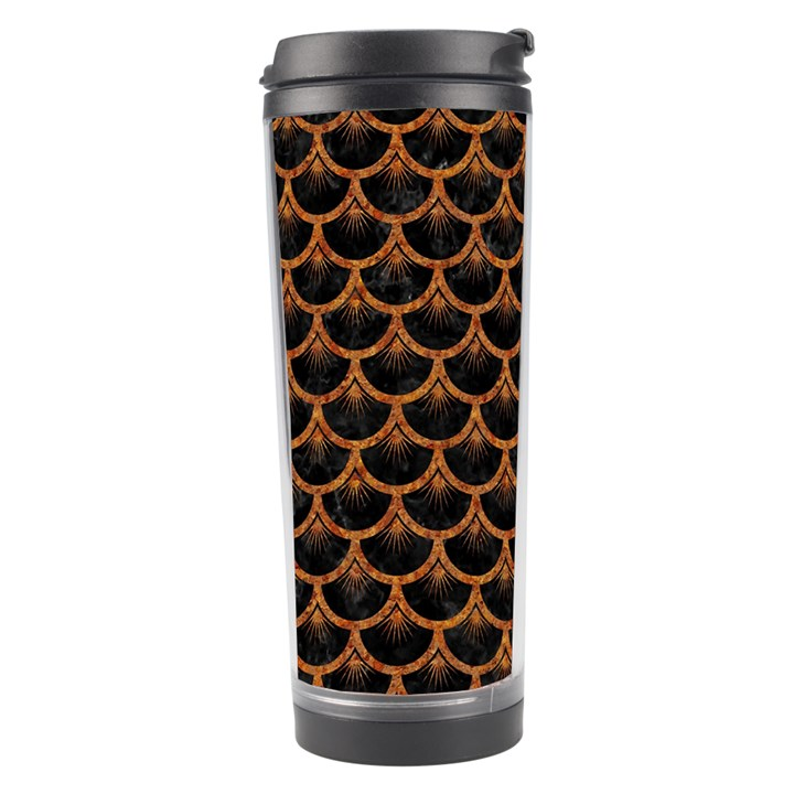 SCALES3 BLACK MARBLE & RUSTED METAL (R) Travel Tumbler