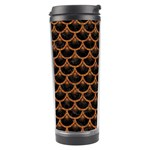 SCALES3 BLACK MARBLE & RUSTED METAL (R) Travel Tumbler Center