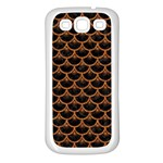 SCALES3 BLACK MARBLE & RUSTED METAL (R) Samsung Galaxy S3 Back Case (White) Front