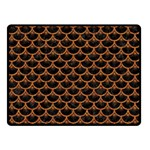 SCALES3 BLACK MARBLE & RUSTED METAL (R) Double Sided Fleece Blanket (Small)  45 x34 Blanket Front