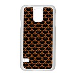 SCALES3 BLACK MARBLE & RUSTED METAL (R) Samsung Galaxy S5 Case (White) Front