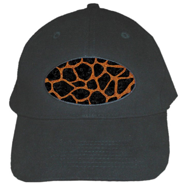 SKIN1 BLACK MARBLE & RUSTED METAL Black Cap
