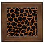 SKIN1 BLACK MARBLE & RUSTED METAL Framed Tiles