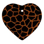SKIN1 BLACK MARBLE & RUSTED METAL Ornament (Heart)