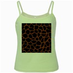 SKIN1 BLACK MARBLE & RUSTED METAL Green Spaghetti Tank