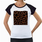 SKIN1 BLACK MARBLE & RUSTED METAL Women s Cap Sleeve T