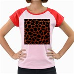 SKIN1 BLACK MARBLE & RUSTED METAL Women s Cap Sleeve T-Shirt Front