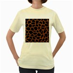 SKIN1 BLACK MARBLE & RUSTED METAL Women s Yellow T-Shirt