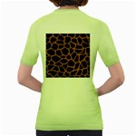 SKIN1 BLACK MARBLE & RUSTED METAL Women s Green T-Shirt Back