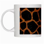 SKIN1 BLACK MARBLE & RUSTED METAL White Mugs