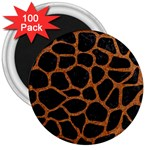 SKIN1 BLACK MARBLE & RUSTED METAL 3  Magnets (100 pack)