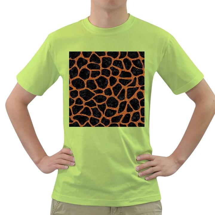 SKIN1 BLACK MARBLE & RUSTED METAL Green T-Shirt