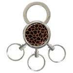 SKIN1 BLACK MARBLE & RUSTED METAL 3-Ring Key Chains