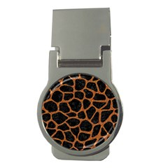SKIN1 BLACK MARBLE & RUSTED METAL Money Clips (Round)