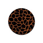 SKIN1 BLACK MARBLE & RUSTED METAL Rubber Round Coaster (4 pack)