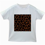 SKIN1 BLACK MARBLE & RUSTED METAL Kids White T-Shirts